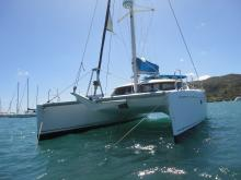 Fountaine Pajot Lavezzi 40 : At anchor in Le Marin